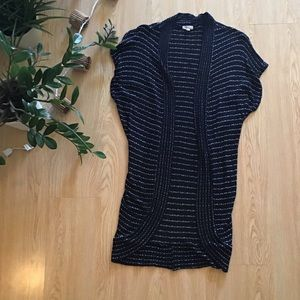 silence and noise open short sleeve cardigan